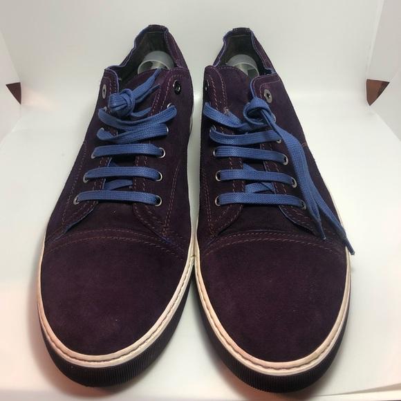 Lanvin Shoes - Lanvin Grape Suede Leather Sneakers Men's Size 12